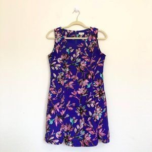 Tea and Cup Royal Blue Floral Sleeveless Dress
